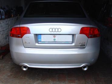 Audi A4 2.0TFSI Quattro Powered by Sportmotor - chiptuning na 184 kW, sportovní filtr K&N, kompletní nerezový sportovní výfuk od katalyzátoru, s koncovkami 100 mm