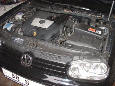VW Golf IV 1.9TDI 96kW Powered by Sportmotor- chiptuning 122kW, sportovní filtr K&N, podvozek HP Sporting, sportovní brzdy Ferodo DS Performance, sportovní děrované kotouče Zimmermann