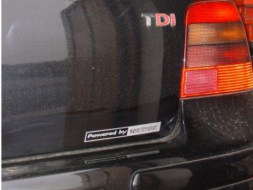 VW Golf IV 1.9TDI 96kW Powered by Sportmotor- chiptuning, sportovní filtr K&N, podvozek HP Sporting, sportovní brzdy Ferodo DS Performance, sportovní děrované kotouče Zimmermann