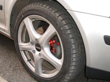 Octavia II 1.9TDI přední sportovní brzdy - dvoudílné sportovní drážkované kotouče Galfer řady X-TREME LINE a sportovní brzdové destičky Ferodo DS Performance