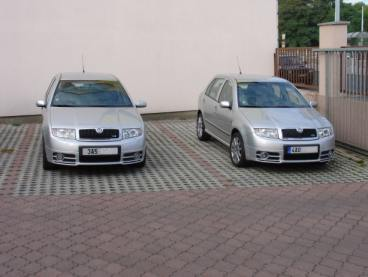 2x Fabia RS Powered by Sportmotor, chiptuning, filtr K&N