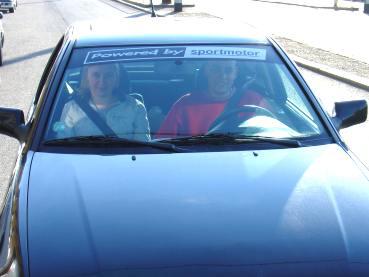 Seat Cordoba 1.6 Powered by Sportmotor - chiptuning, reklamní pruh na předním okně
