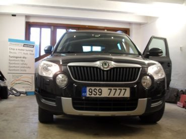 Škoda Yeti 1,8TSI Powered by Sportmotor - chiptuning na 154kW, sportovní filtr K&N